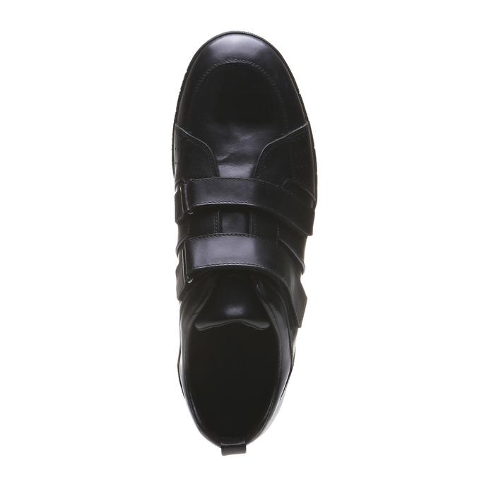Kožené tenisky bata, černá, 814-6344 - 19