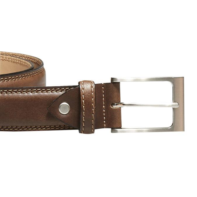 Klasický kožený pásek bata, hnědá, 954-3828 - 26