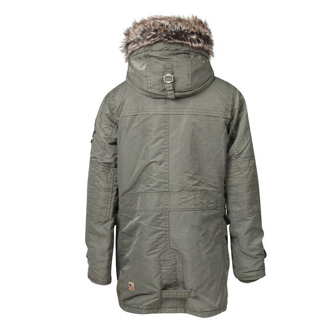 Pánská zimní bunda s kapucí khujo, zelená, 979-7033 - 26