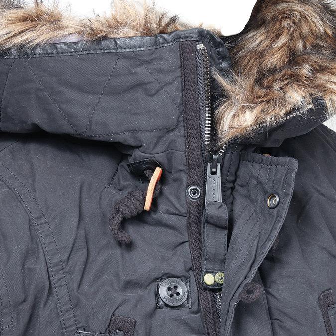 Pánská zimní bunda s kapucí khujo, černá, 979-6038 - 16