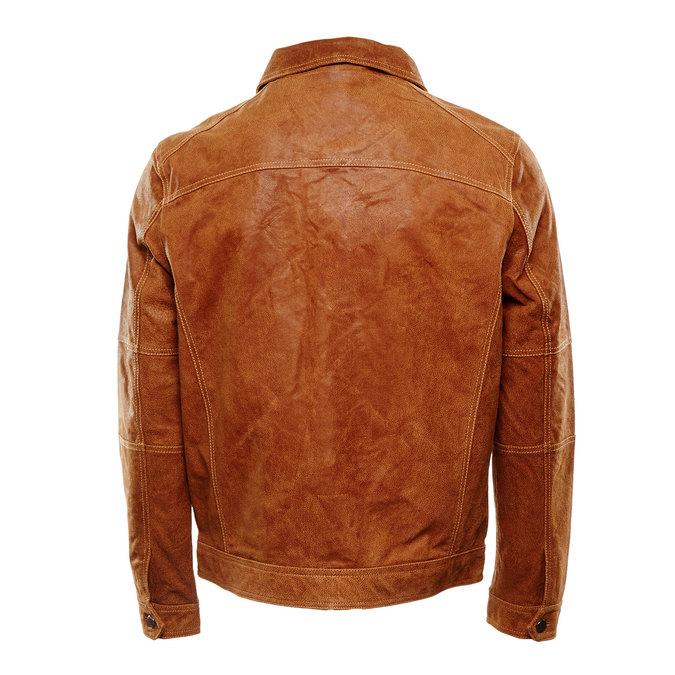 Pánská kožená bunda bata, hnědá, 973-3104 - 26