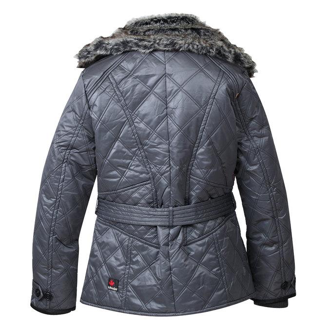Dámská zimní bunda s kožešinovým límcem khujo, hnědá, 979-4001 - 26