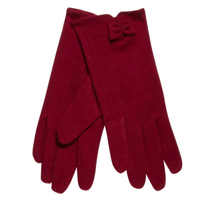 Dámské rukavice s mašličkou bata, červená, 909-5404 - 13