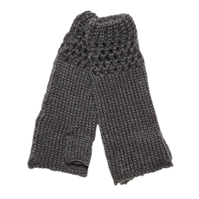 Pletené rukavice bez prstů bata, šedá, 909-2380 - 13