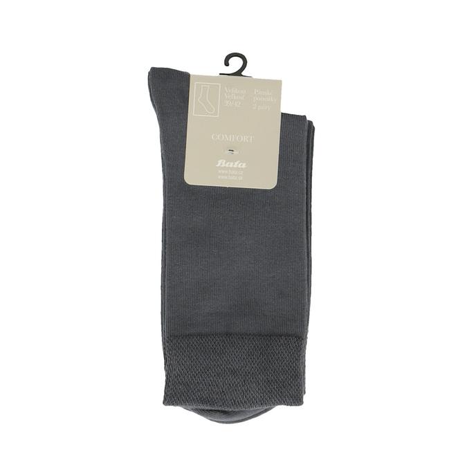 Pánské ponožky 2 páry bata, šedá, 919-2363 - 13
