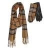 gloves and scarf set junek, hnědá, 920-4004 - 13