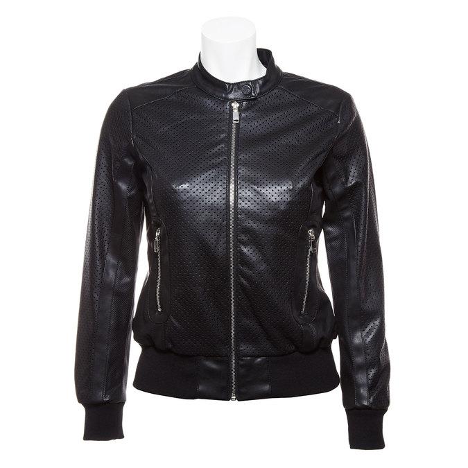 Dámská bunda s perforací bata, černá, 971-6172 - 13