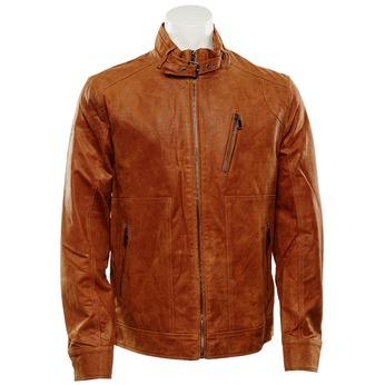 Pánská kožená bunda bata, hnědá, 973-3108 - 13