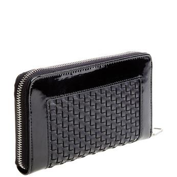 Dámská peněženka v pleteném designu bata, černá, 941-6132 - 13
