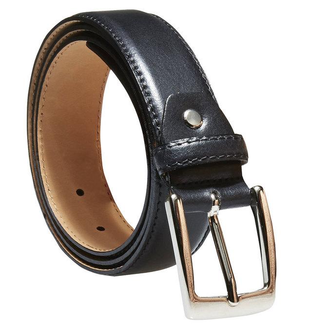 Pánský kožený opasek bata, černá, 954-6170 - 13
