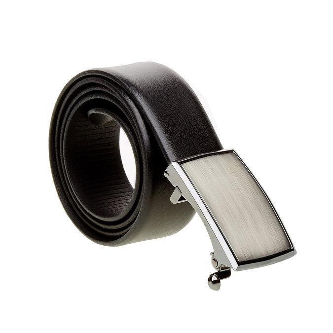 Pánský kožený opasek bugatti-belts, černá, 954-6006 - 13