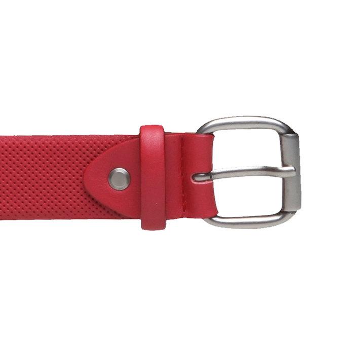 Kožený opasek s perforací bata, červená, 954-5154 - 26