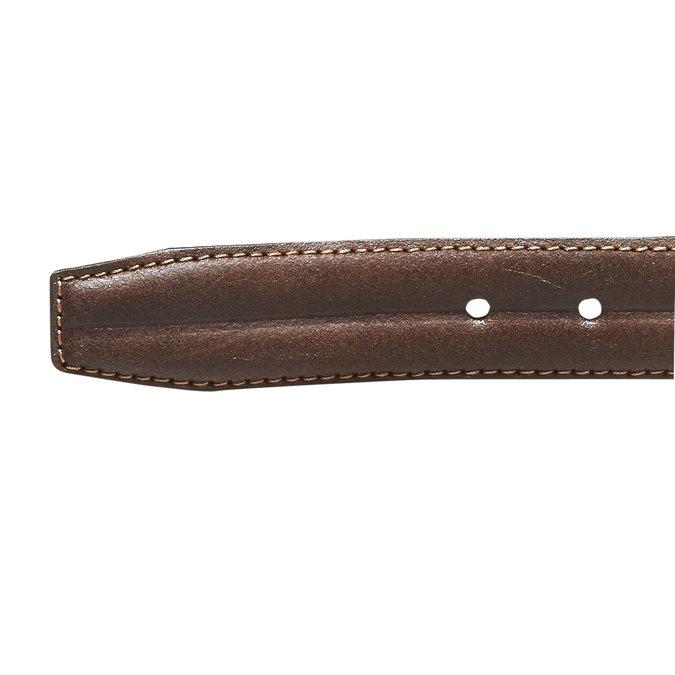 Pánský kožený opasek bata, hnědá, 954-4128 - 16