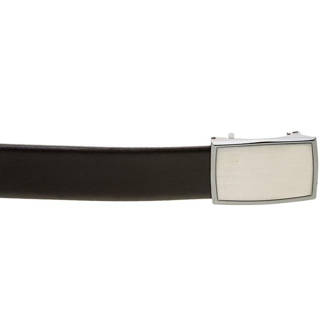 Pánský kožený opasek bugatti-belts, černá, 954-6006 - 26