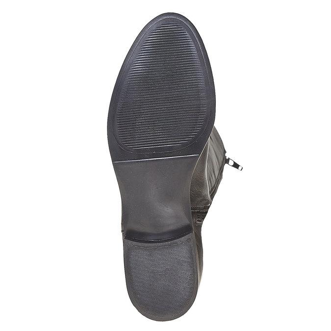 Kožené kozačky s prošíváním bata, černá, 594-6525 - 26