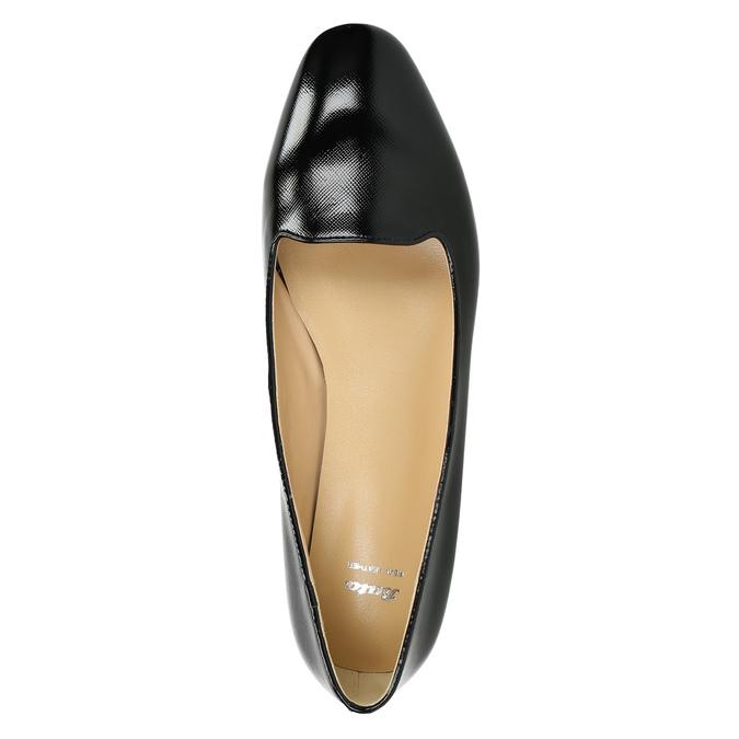 Dámské kožené baleríny bata, černá, 528-6630 - 26