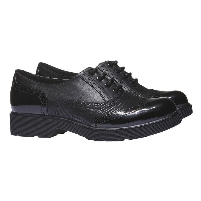 Dámská obuv na masivní podešvi bata, černá, 521-6114 - 26