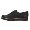 Dámské kožené polobotky bata, černá, 526-6600 - 26