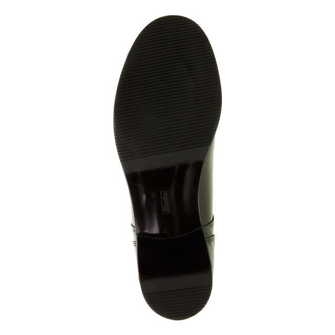 Dámské polobotky z lakované kůže bata, černá, 528-6117 - 26