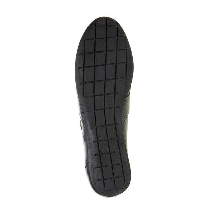 Kožené baleríny s páskem přes nárt bata, černá, 524-6497 - 26
