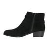 Kotníčková obuv z broušené kůže bata, černá, 693-6600 - 26