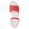 Kožené sandály na nízkém podpatku bata-touch-me, červená, 666-5203 - 26