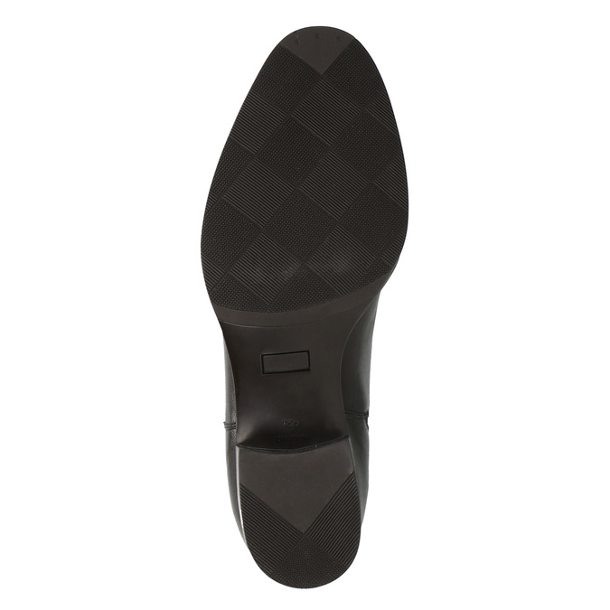 Kožené kotníčkové boty s pružnými boky bata, hnědá, 596-4623 - 26