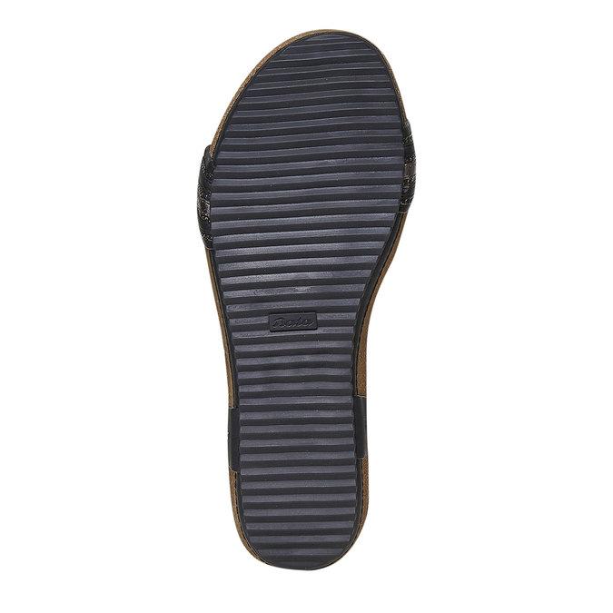Dámské sandály na výrazné podešvi bata, černá, 561-6404 - 26