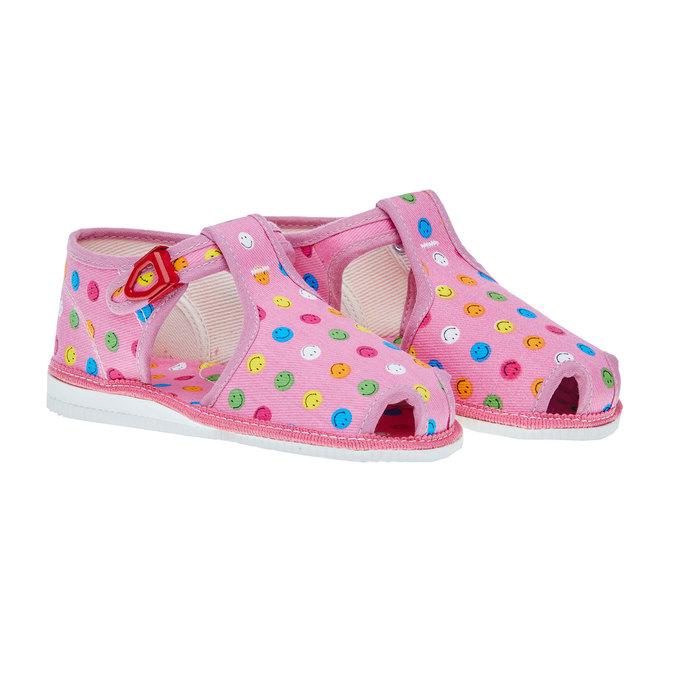 dětská domácí obuv bata, růžová, 179-5100 - 26