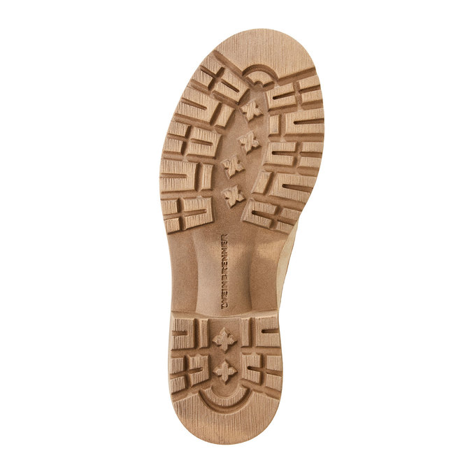 Kožené kotníčkové boty s výraznou podešví weinbrenner, béžová, 596-8170 - 26