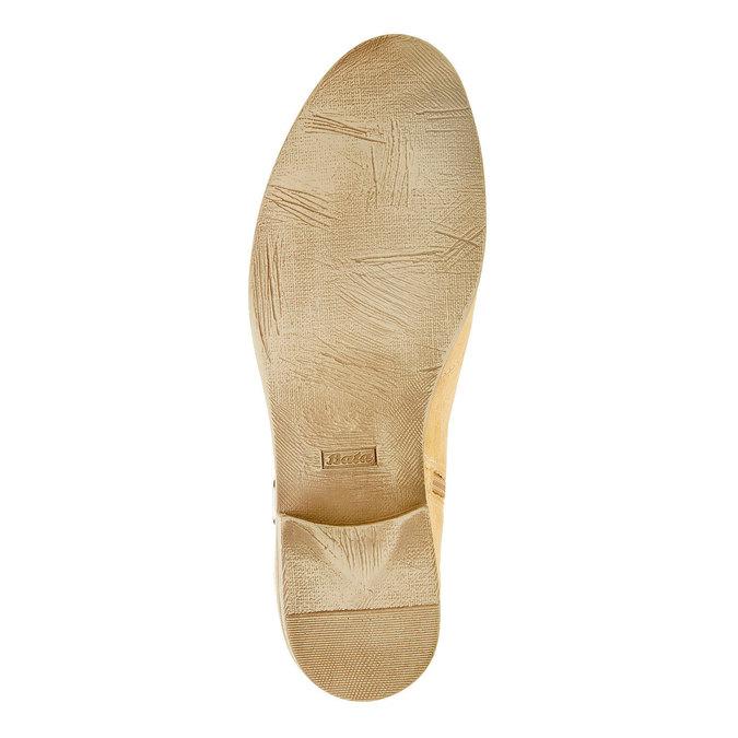 Kotníčkové kozačky z broušené kůže bata, béžová, 593-8402 - 26