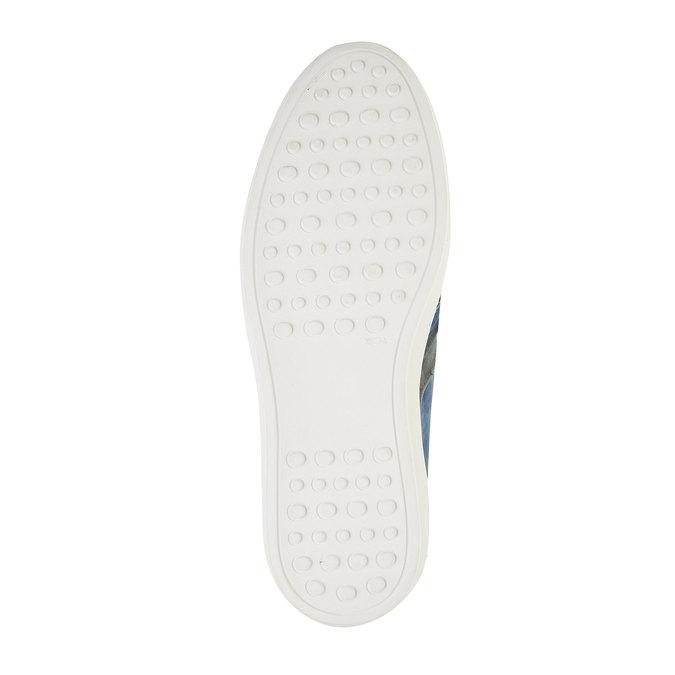 Ležérní tenisky z broušené kůže bata, modrá, 846-9638 - 26