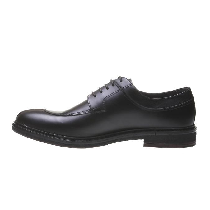 Pánské kožené polobotky bata, černá, 824-6709 - 15
