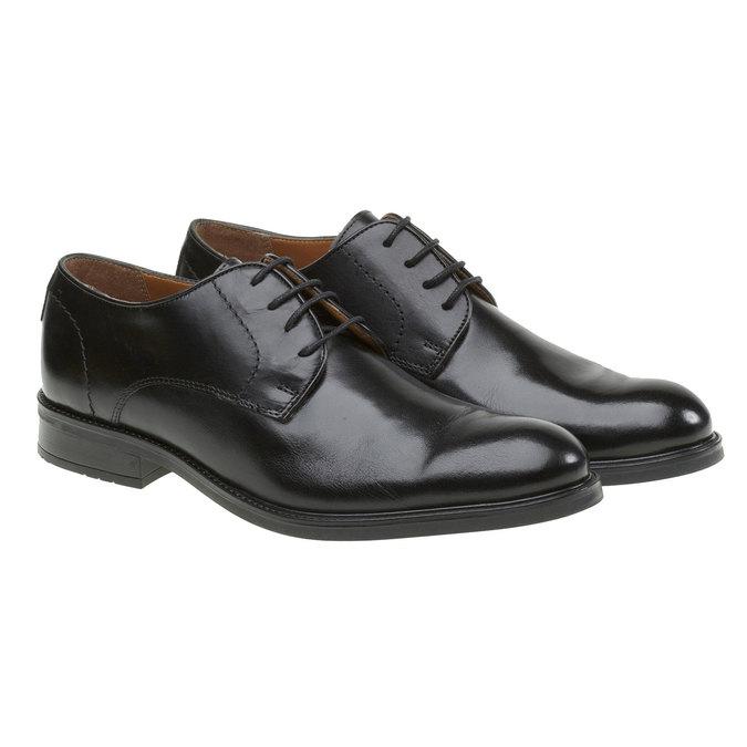 Kožené polobotky v Derby stylu bata, černá, 824-6512 - 26