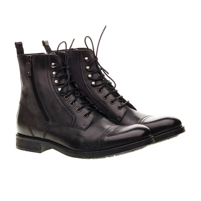 Kožená kotníčková obuv diesel, černá, 896-6106 - 26