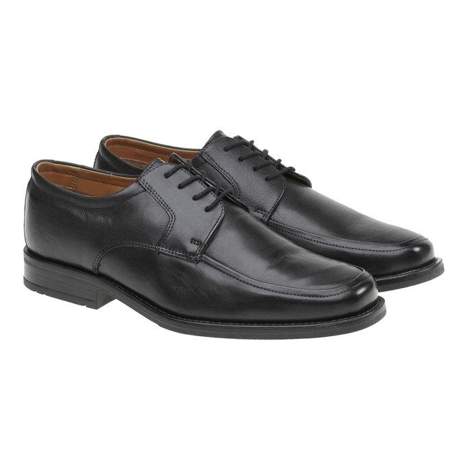 Kožené polobotky v Derby stylu bata, černá, 824-6509 - 26