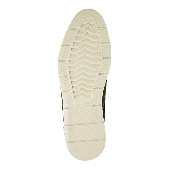 Kotníčkové kožené polobotky bata, černá, 843-9311 - 26