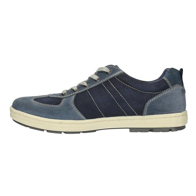 Pánské kožené tenisky bata, modrá, 826-9649 - 26