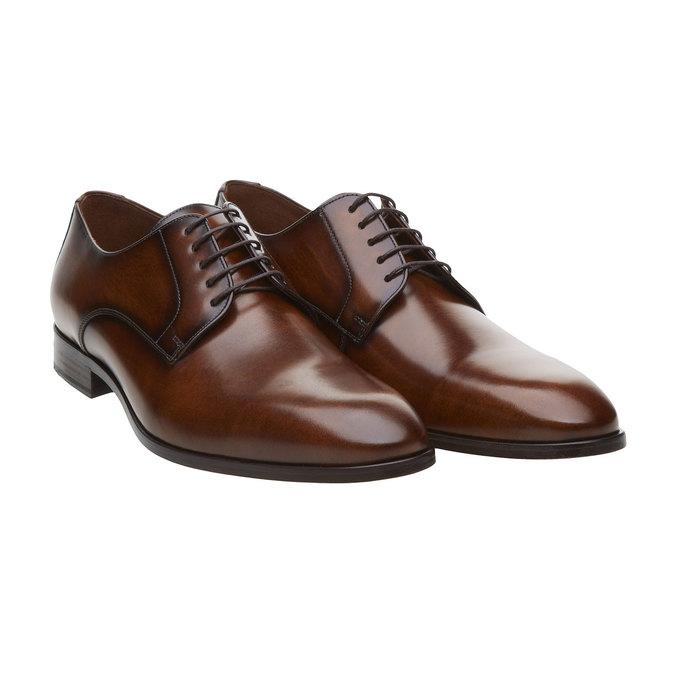 Pánská obuv ve stylu Derby lloyd, hnědá, 824-3338 - 26