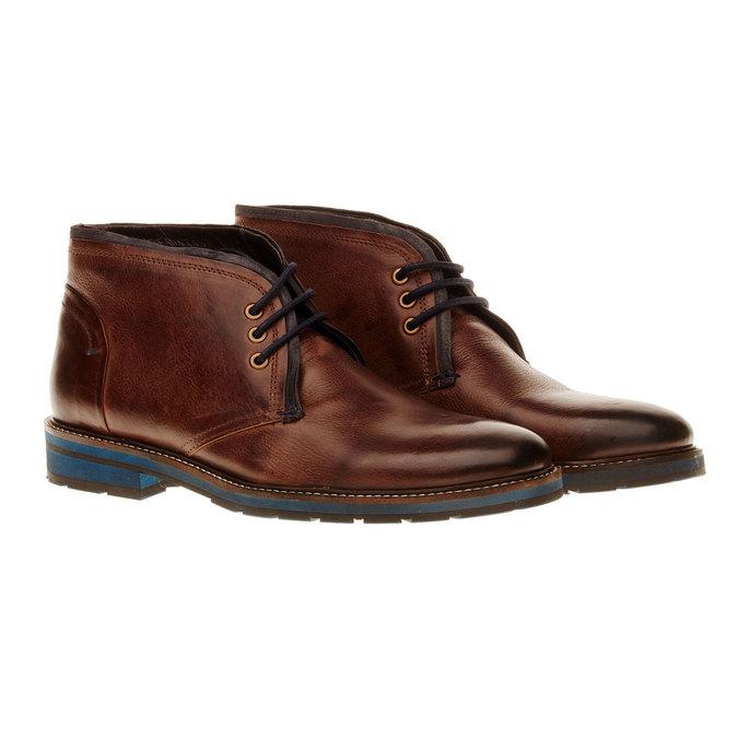 Kožená obuv v Chukka stylu bata, hnědá, 894-4126 - 26