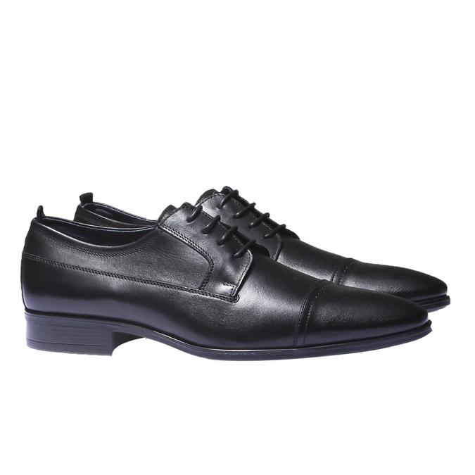 Kožené derby bata, černá, 824-6850 - 26