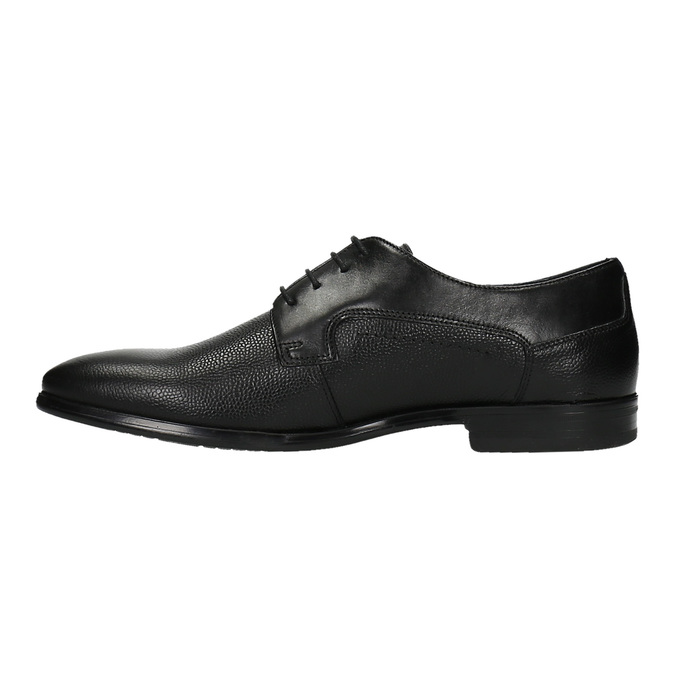 Pánské kožené polobotky bata, černá, 824-6709 - 26