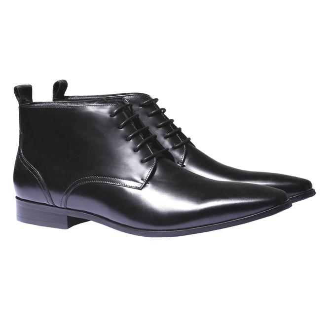 Kožená kotníčková obuv bata, černá, 894-6144 - 26