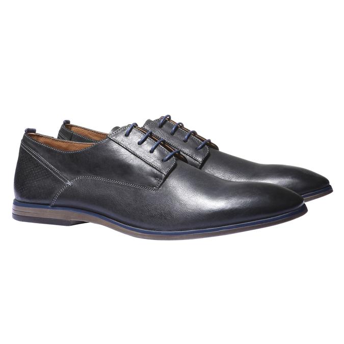 Kožené polobotky v Derby stylu bata, černá, 824-6605 - 26