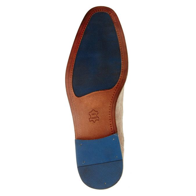 Pánské polobotky s koženou podešví bata, béžová, 823-2838 - 26