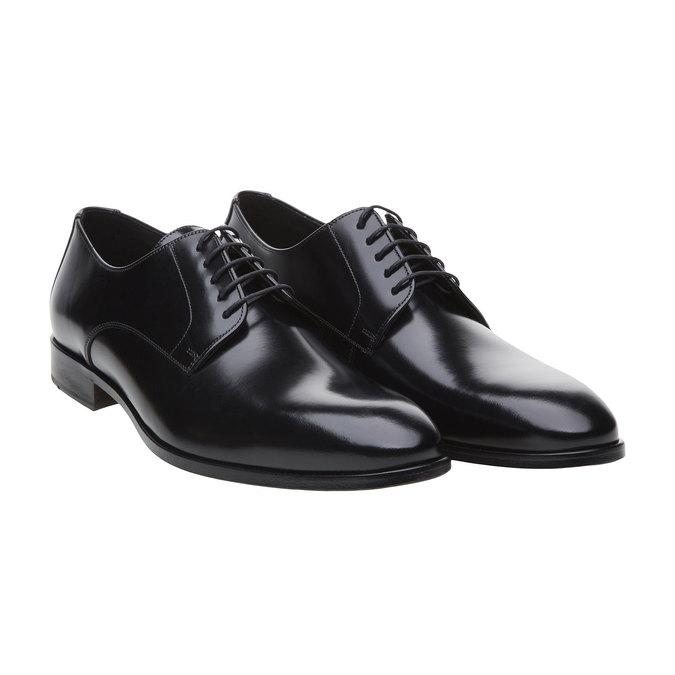 Pánská obuv ve stylu Derby lloyd, černá, 824-6338 - 26