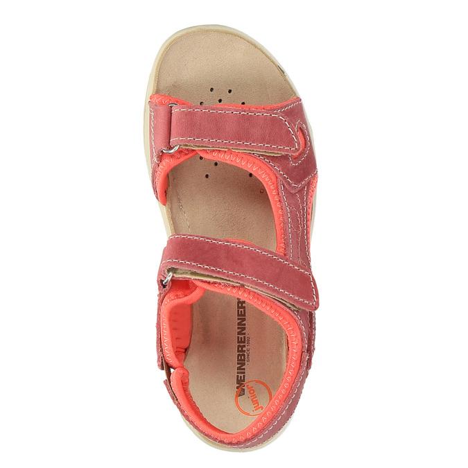Dětské kožené sandály weinbrenner-junior, červená, 366-5170 - 19