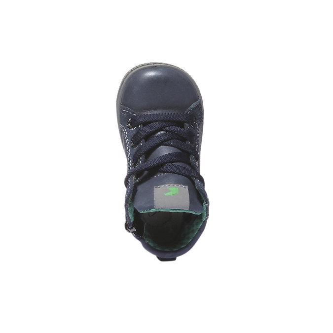 Kožené kotníkové boty ke kotníkům primigi, modrá, 114-9133 - 19