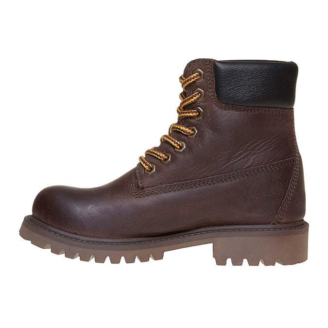 Dětská kožená zimní obuv weinbrenner-junior, hnědá, 394-4182 - 19