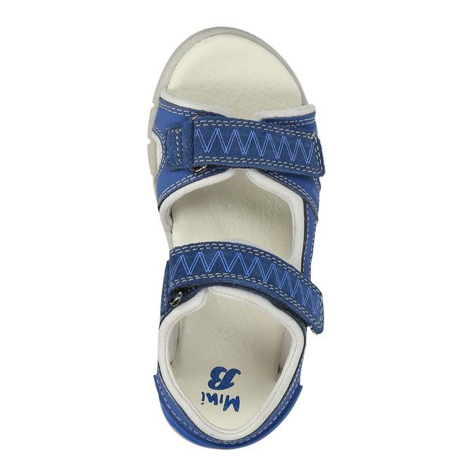 Dětské sandály s koženými pásky mini-b, modrá, 264-9166 - 19